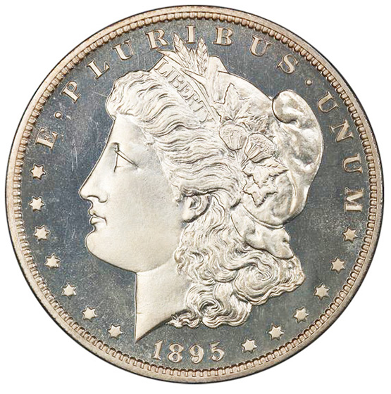 Picture of 1895 MORGAN S$1 PR66 Cameo