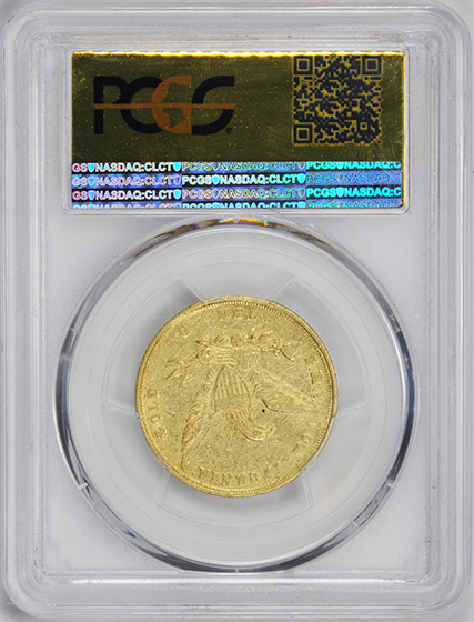 Picture of 1855 WASS MOL $10 AU55