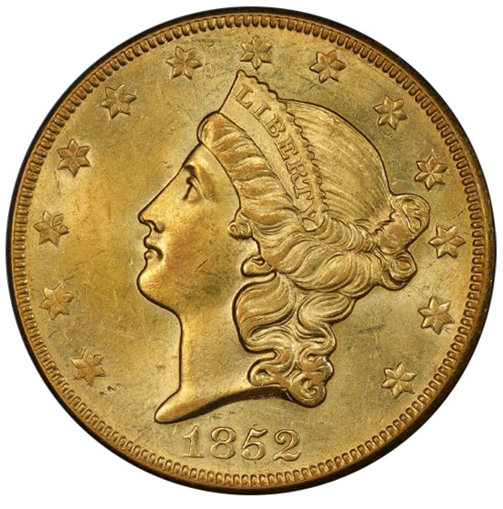 Picture of 1852-O LIBERTY HEAD $20 MS61