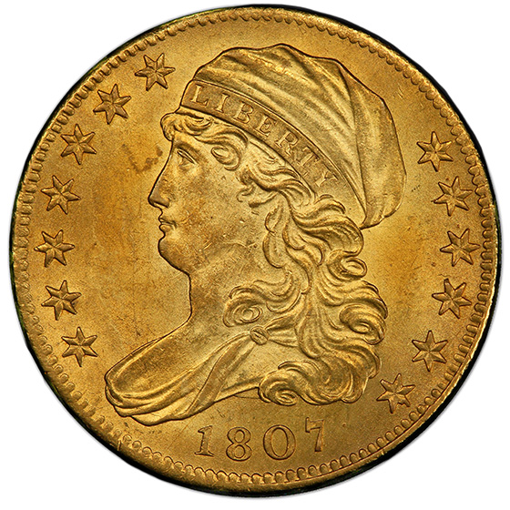 Picture of 1807 CAPPED BUST $5, BUST LEFT MS64+