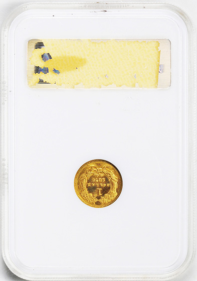 Picture of 1876 GOLD G$1, TYPE 3 PR65 Cameo