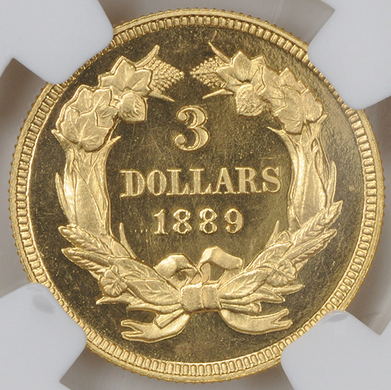 Picture of 1889 INDIAN PRINCESS $3 PR66 Cameo