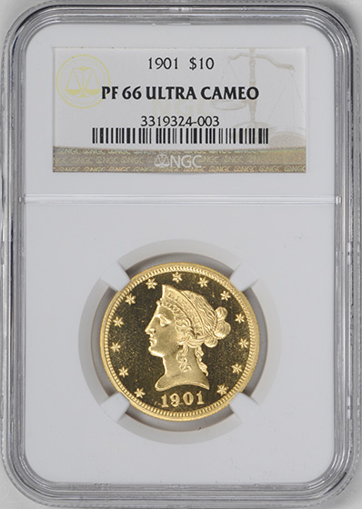 Picture of 1901 LIBERTY HEAD $10 PR66 Deep Cameo