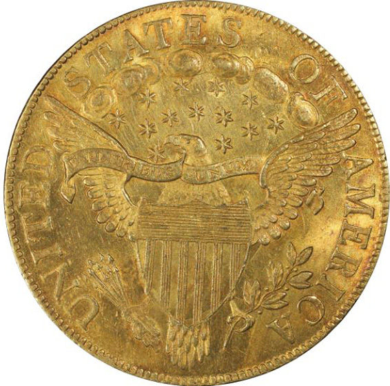 Picture of 1803 DRAPED BUST $10, SMALL STARS REVERSE RA63 W