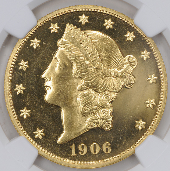 Picture of 1906 LIBERTY HEAD $20 PR65 Cameo