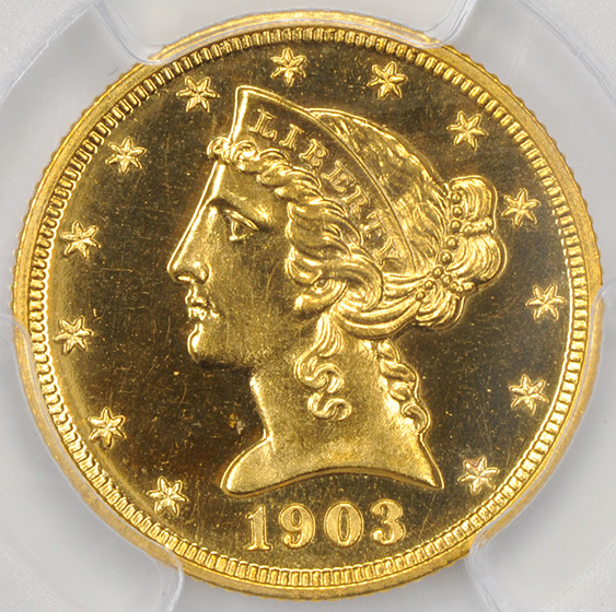 Picture of 1903 LIBERTY $5 PR66 Cameo