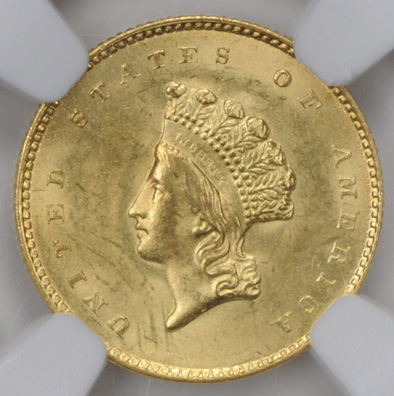 Picture of 1855-O GOLD G$1, TYPE 2 MS64