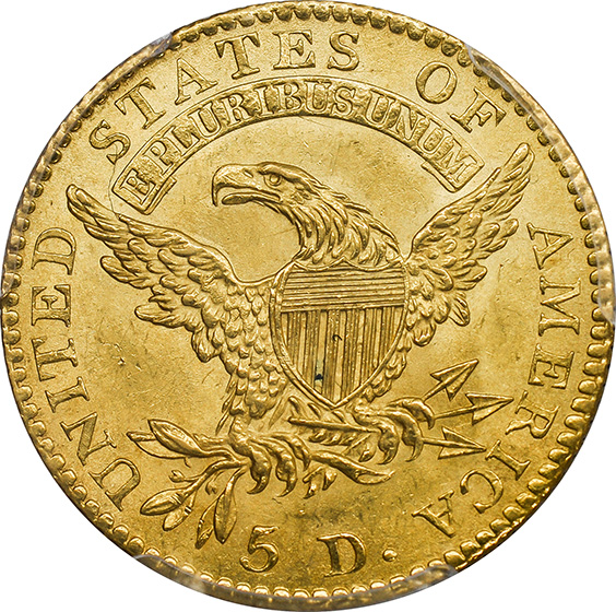 Picture of 1813 CAPPED BUST $5 MS64