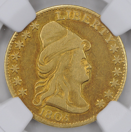 Picture of 1805 DRAPED BUST $2.5 XF40