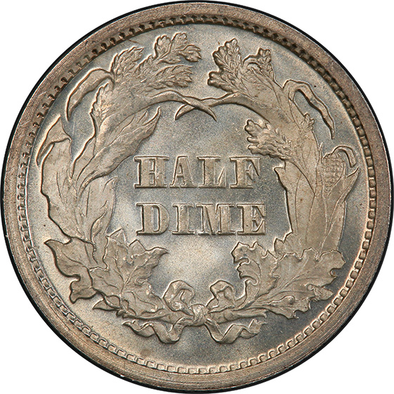 Picture of 1871 LIBERTY SEATED H10C MS68+