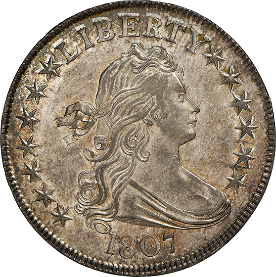 Picture of 1807 DRAPED BUST 50C, DRAPED BUST MS66