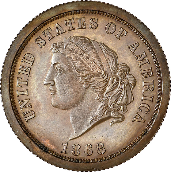 Picture of 1868 $5 J-656 PR66 Brown