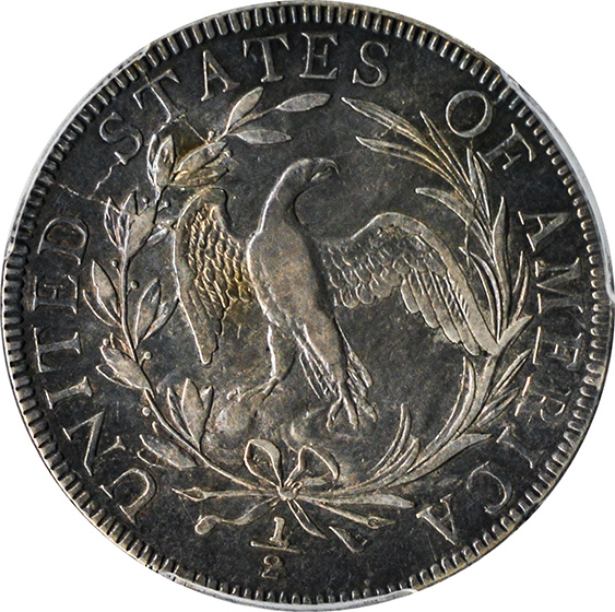 Picture of 1797 DRAPED BUST 50C AU55