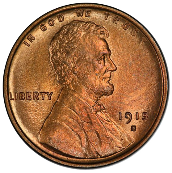 Picture of 1915-S LINCOLN BRONZE 1C MS66 Red