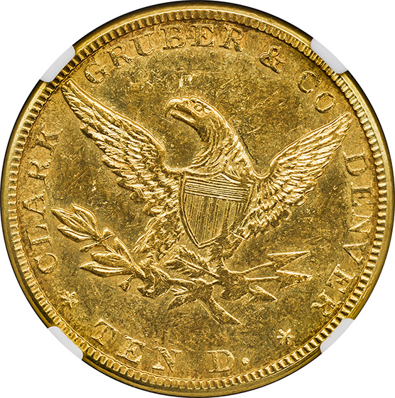 Picture of 1861 CLARK GR $10 MS61