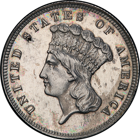 Picture of 1885 $3 J-1753 PR63