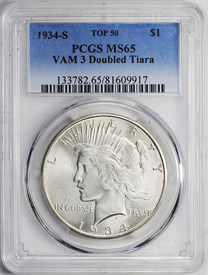 Picture of 1934-S PEACE $1 MS65