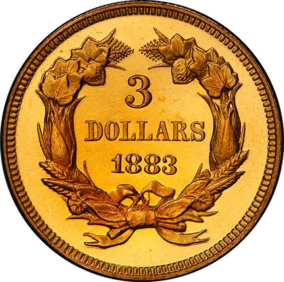 Picture of 1883 INDIAN PRINCESS $3 PR66 Deep Cameo