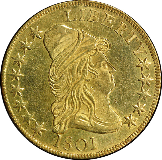 Picture of 1801 DRAPED BUST $10 MS63