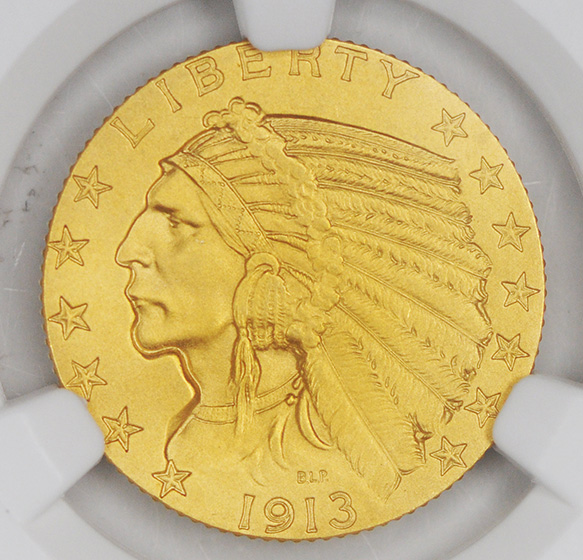 Picture of 1913 INDIAN HEAD $5 PR67
