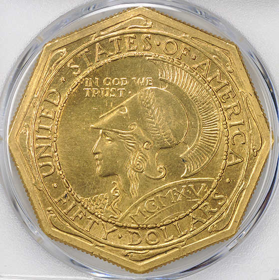 Picture of 1915-S GOLD $50, PAN-PAC OCTAGONAL MS64