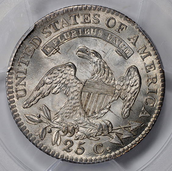 Picture of 1815 CAPPED BUST 25C MS65+