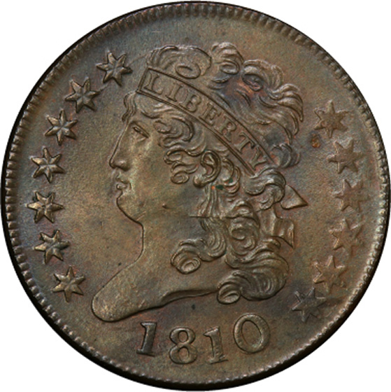 Picture of 1810 CLASSIC HEAD 1/2C MS64 Brown