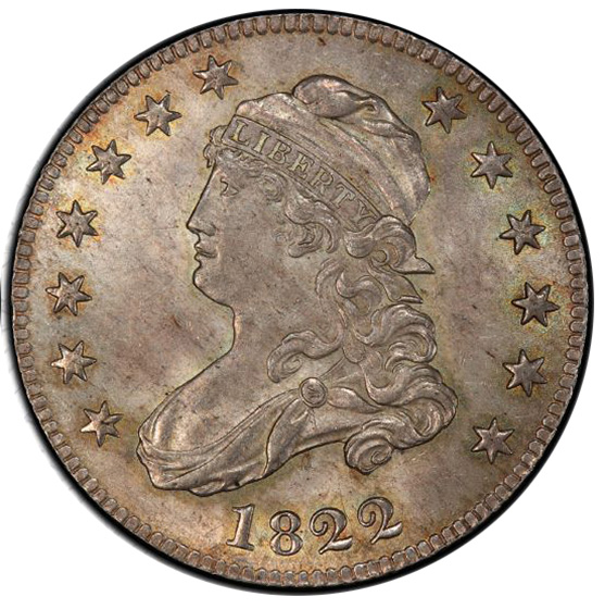 Picture of 1822 CAPPED BUST 25C MS65