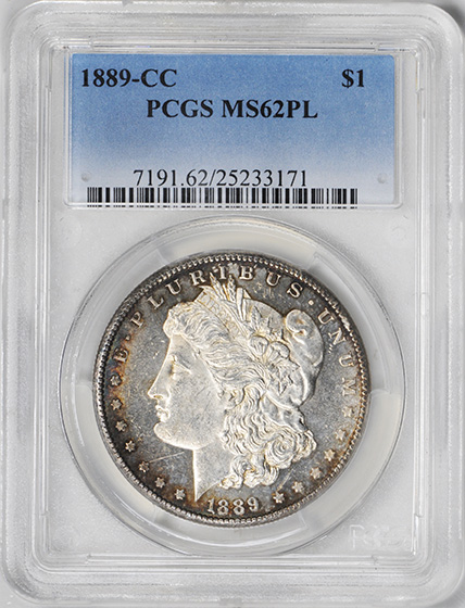 Picture of 1889-CC MORGAN S$1 MS62 Proof Like
