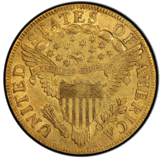 Picture of 1797 DRAPED BUST $10, LARGE EAGLE AU55