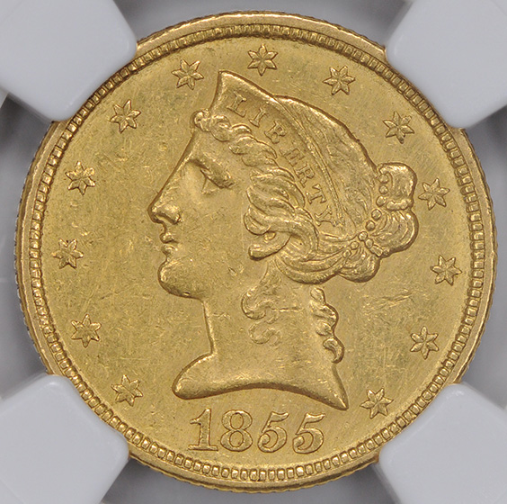 Picture of 1855-C LIBERTY $5 MS60