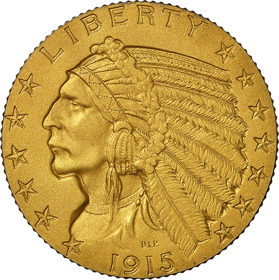 Picture of 1915 INDIAN HEAD $5 PR67