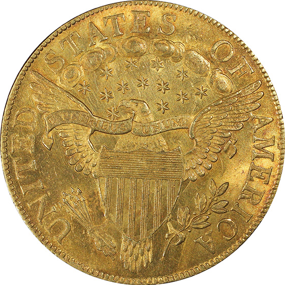 Picture of 1803 DRAPED BUST $10, SMALL STARS REVERSE MS63