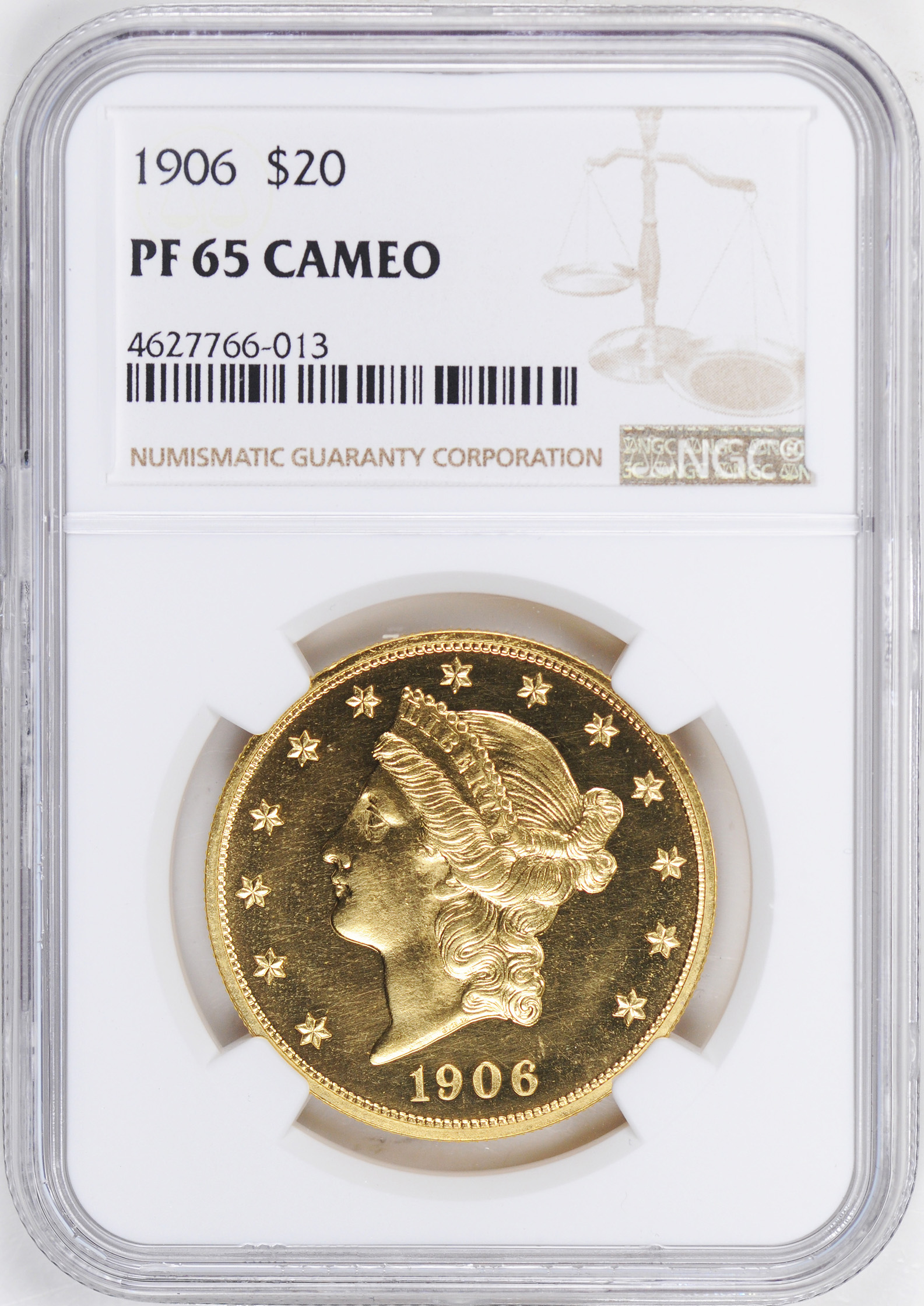 1906 LIBERTY HEAD $20 PR65 Cameo