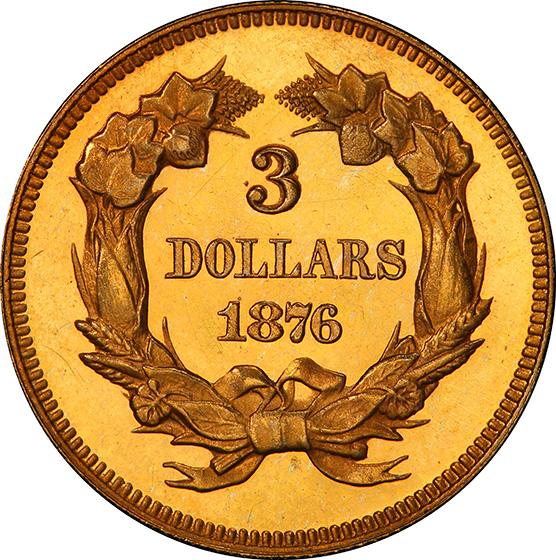 Picture of 1876 INDIAN PRINCESS $3 PR65 Deep Cameo