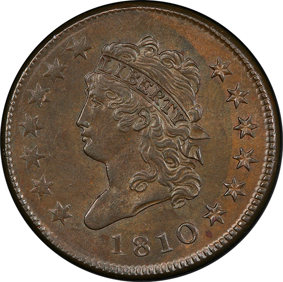 Picture of 1810 CLASSIC HEAD 1C MS64 Brown
