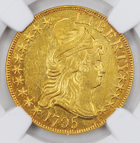 Picture of 1795 DRAPED BUST $5 AU53