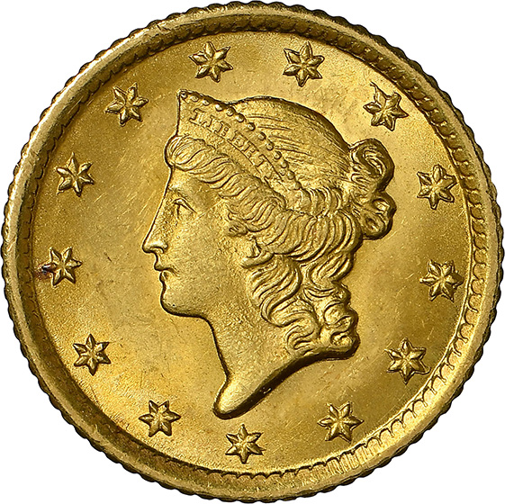 Picture of 1853-O GOLD G$1, TYPE 1 MS65
