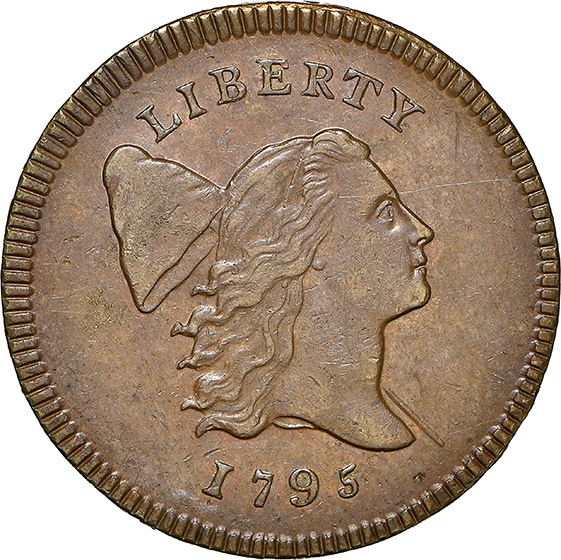 Picture of 1795 LIBERTY CAP 1/2, LETTERED EDGE MS62 Brown