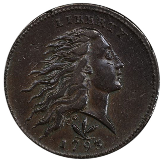 Picture of 1793 WREATH 1C, VINE AND BARS EDGE AU50