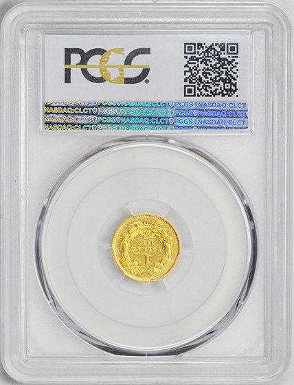 Picture of 1860-D GOLD G$1, TYPE 3 AU50
