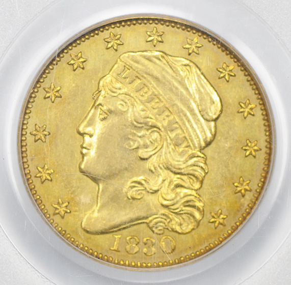 Picture of 1830 CAPPED BUST $2.5 AU53