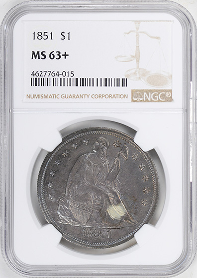 Picture of 1848-O LIBERTY SEATED H10C MS67