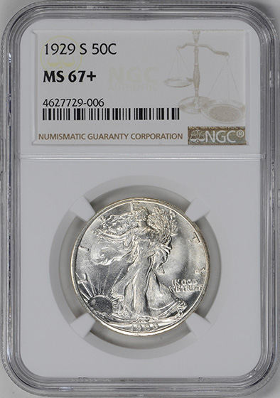 Picture of 1929-S WALKING LIBERTY 50C MS67+