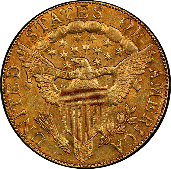 Picture of 1804 DRAPED BUST $10, CROSS 4 MS61