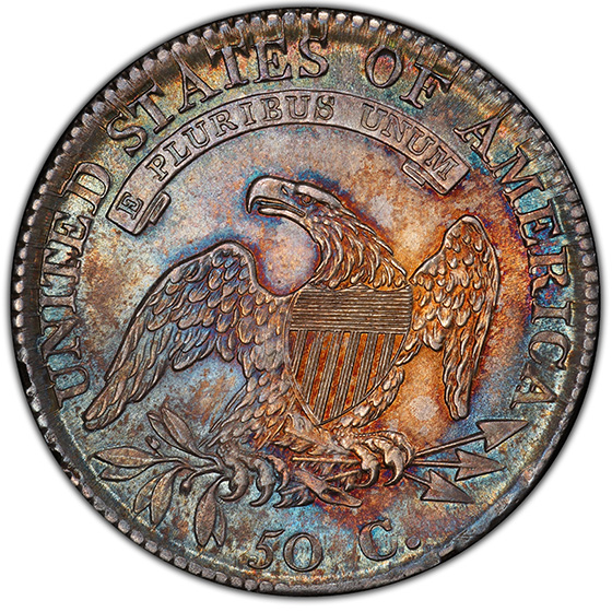 Picture of 1812/1 CAPPED BUST 50C, SMALL 8 MS64+