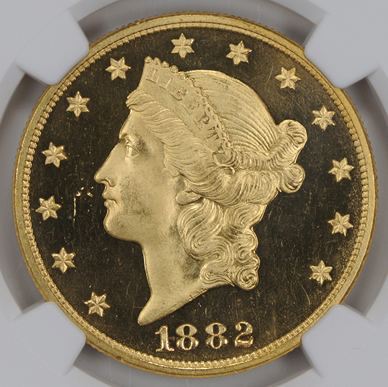 Picture of 1882 LIBERTY HEAD $20 PR65 Deep Cameo