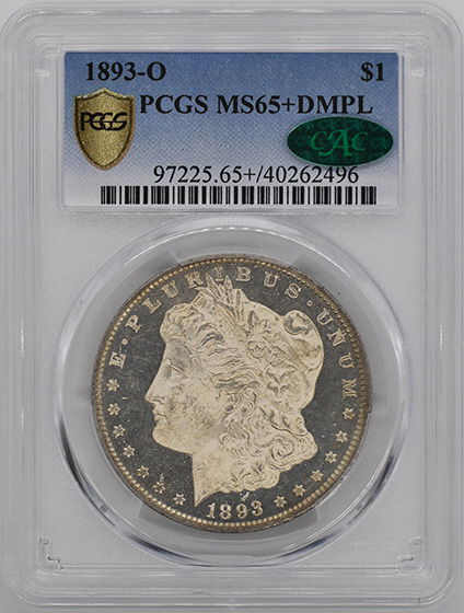 Picture of 1893-O MORGAN S$1 MS65+ DMPL