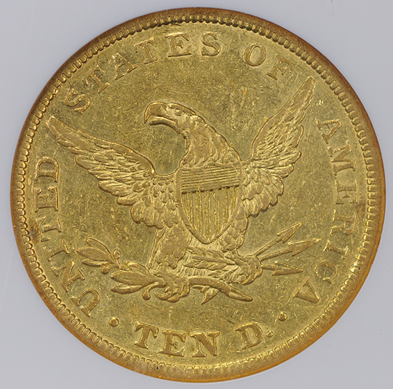 Picture of 1839/8 LIBERTY HEAD $10, TYPE OF 1838 XF45