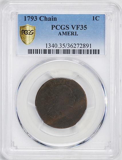 Picture of 1793 CHAIN 1C, AMERI. VF35